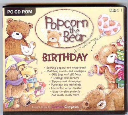 Birthday Popcorn The Bear Craft CD Rom